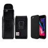 iPhone 8 Phone Case and Vertiacl Holster with Black Belt Clip Set, Black
