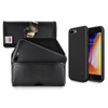 iPhone 8 Plus Phone Case and Holster with Metal Belt Clip Set, Black