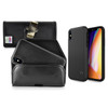 iPhone X Phone Case and Holster with Metal Belt Clip Set, Black