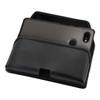 Google Pixel 3 (2019) Belt Case Black Leather Pouch with Executive Belt Clip, Horizontal