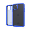 Tough Defense Drop Tested Case for Apple iPhone 11 Pro 5.8 Inch, Military Grade, Anti-Scratch Ultra Clear Back, Blue Sides