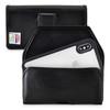 Tough Defense Combo for iPhone X & XS, Blk/Clr Drop Test Case + Horizontal Pouch, Leather Clip