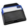 Tough Defense Combo for iPhone X & XS, Blu/Clr Drop Test Case + Horizontal Pouch, Metal Clip