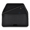 Hybrid Case Combo for iPhone XR 6.1, Clear/Black Case + Horizontal Nylon Pouch, Metal Clip