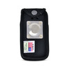 Alcatel GO FLIP 3 Black NYLON Flip Phone Fitted Case Metal Removable Clip
