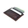 Genuine Leather Front Pocket Wallet Minimalist Alligator Print with RFID Blocking
