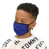 Kid's Face Mask Blue Washable Reusable, Cotton Pocket, 2 Ply, Nose Seal, Adjustable Ear Loops (set of 2)