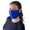 Face Mask Blue Washable Reusable, Cotton Pocket, 2 Ply, Nose Seal, Adjustable Ear Loops (set of 2)