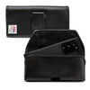 Samsung Galaxy Note 20 Ultra Belt Holster Case Black Leather Pouch with Executive Belt Clip, Horizontal
