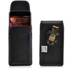 HTC One A9 Vertical Leather Holster Metal Clip