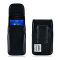 Blackberry 8520 9360 9700 Leather Holster, Black Belt Cip