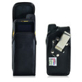 Sonim XP6 Leather Holster Pouch, Vertical Metal Belt Clip by Turtleback
