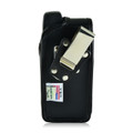 Sonim XP7 Leather Holster Pouch, Vertical Metal Belt Clip by Turtleback