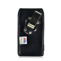 Turtleback Belt Case compatible with Samsung Galaxy S10e A10e S7 Black Vertical Holster Leather Pouch with Heavy Duty Rotating Ratcheting Belt Clip Made in USA