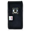 Nexus 6P Vertical Leather Holster Case Metal Belt Clip