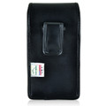 Blu Pure XL Vertical Leather Holster Case Black Belt Clip