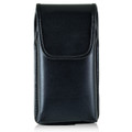 Blu Pure XL Vertical Leather Holster Case Black Belt Clip