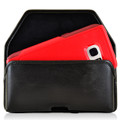 Galaxy S7 Edge Extended Horizontal Leather Fixed Clip Holster Fits Otterbox Commuter