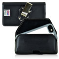 Mophie Juice Pack H2PRO iPhone 6S Belt Clip Case H2PRO iPhone 6S Holster, Black Leather Pouch with Heavy Duty Metal Rotating Belt Clip, Horizontal - Magnetic Flap Closure