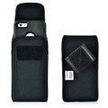 iPhone 6S+ Plus Samsung S7 Edge Police Pouch Belt Case Vertical hook and loop Closure Black Nylon Belt Clip Pouch with Heavy Duty Rotating Belt Clip, fits Otterbox Defender and Bulky Cases