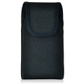 iPhone 6S Samsung S7 Police Pouch Belt Case Vertical hook and loop Closure Black Nylon Belt Clip Pouch with Heavy Duty Rotating Belt Clip, fits slim cases