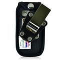 Doro PhoneEasy 626 Flip Phone Fitted Case Black Nylon Metal Clip Turtleback