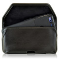 Google Pixel Belt Case, Google Pixel Holster, Black Leather Pouch with Heavy Duty Rotating Belt Clip, Horizontal