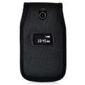 ZTE Cymbal Z320  Flip Phone Case Black NYLON Belt Fitted Case Metal Removable Rotating Belt Clip