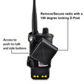 Motorola APX 4000 Holder | Single Knob | STANDARD BATTERY | Leather Fits Duty Belts