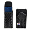 Galaxy S9 Plus / S8 Plus Police Leather Basketweave Vertical Holster Belt Clip Case