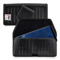 Galaxy S9 Plus / S8 Plus Police Leather Basketweave Holster Belt Clip Case