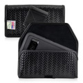Galaxy S8 Police Leather Basketweave Holster Belt Clip Case Fits Bulky Cases