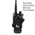 Motorola APX 4000 Holder | Single Knob | Extended Battery  | Leather Fits Duty Belts