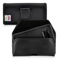 Galaxy S8  Leather Holster Black Belt Clip Otterbox Commuter