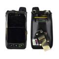 Sonim XP7 Koamtac Scanner Black Leather Fitted Case Rotating Removable Metal Belt Clip By Turtleback