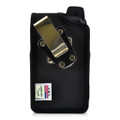 Sonim XP7 IS Black Nylon Holster Pouch Rotating Removable Metal Belt Clip By Turtleback
