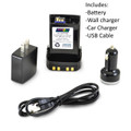 Motorola APX 8000 P25 Battery with Internal Charger, micro-USB port charger AC and DC LI-Ion 3000 mAh, Good 2 Go Battery replaces Impres battery