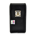 iPhone 6S Plus Leather Vertical Holster Metal Belt Clip Fits Otterbox Commuter