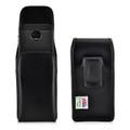 Motorola Moto Z2 Force Holster Black Clip Case Pouch Leather Vertical