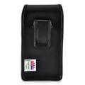 iPhone XS (2018) & iPhone X (2017) Belt Case Vertical Holster Black Leather Pouch Executive Belt Clip