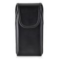 Google Pixel 2 Belt Case Fits Slim Case Vertical Black Leather Executive Belt Clip