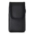 Greatcall Jitterbug Flip Black NYLON Vertical Holster with Magnetic Closure Heavy Duty Rotating Belt Clip