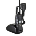 Motorola XTS1500 Models I II III Radio Belt Clip Holder fits in Charger for Two 2 Way Radios Black Leather