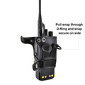 Motorola XPR 7550 Holster D-Ring Fitted Case, This Holder fits Motorola XPR 7550 Radio Black Leather Duty Belt Holster with Heavy Duty Rotating Belt Clip