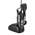 Motorola XTS5000 2 Way Radio Holder D Rings fits in Charger Black Leather Case