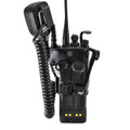 Motorola XTS3000 Models I II III Radio Holder with D Rings fits in Charger for Two 2 Way Radios Black Leather