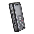 Kyocera DuraTR E4750 Phone Black Leather Fitted Case with Heavy Duty Metal Ratcheting Removable Belt Clip