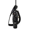 "TAIT TP8100 Fire and Police Two Way Radio Belt Clip Holster Case Black Leather Rotating Ratcheting 2.25"" Belt Loop"