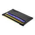 Front Pocket Wallet Minimalist Slim Card Holder with RFID Blocking Thin Genuine BLACK Leather