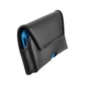 Turtleback Holster Designed for iPhone 11 Pro Max (2019) / XS Max (2018) Fits with OTTERBOX DEFENDER, Black Leather Belt Case Pouch with Executive Belt Clip, Horizontal Made in USA